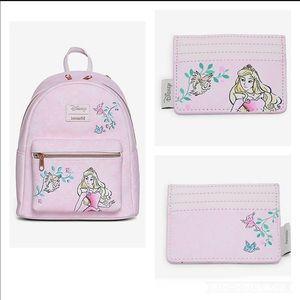 Loungefly Princess Aurora  backpack & cardholder